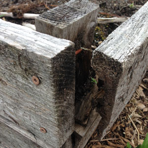 Does your garden plot need new boards or other repairs?